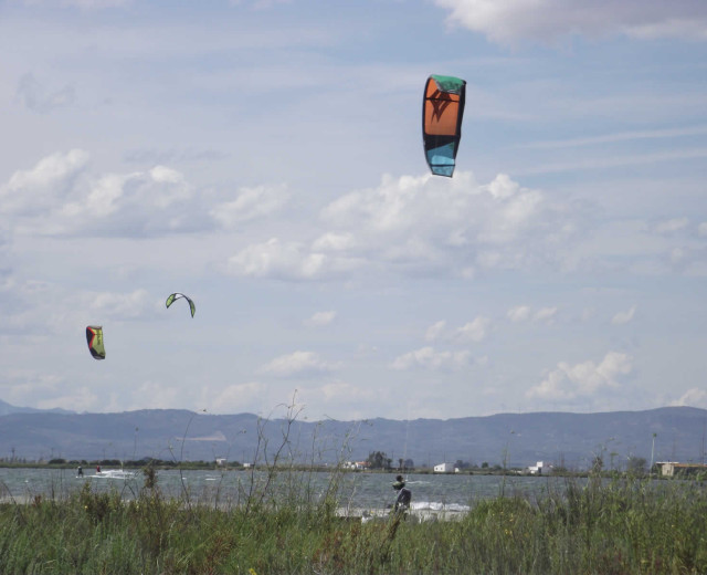 Kite-surfing, Eucaliptus Beach